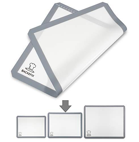 BackeFix la lámina de hornear en lugar de papel de horno - 3 tamaños - tapete de coccion - ambientalmente amigable, reutilizable (44cm)