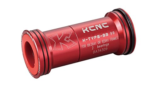 Cazoletas Pedalier KCNC Press Fit BB90 Rojo