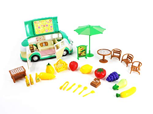 Toyzabo Food Truck Toy Fruit Toy Food Truck Food Truck Toys for Toddlers Toys Food Truck Food Toy Truck Fruit Food Truck Toys for Kids Great Gift for Christmas, Holidays, Birthdays for Boys and Girls