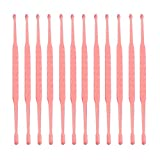 12Pcs Disposable Ear Pick Earwax Removal Plastic Ear Clean Tool Curette Spoon Cleaner for Personal Care Personal Cleaning 9x0.4x0.4cm