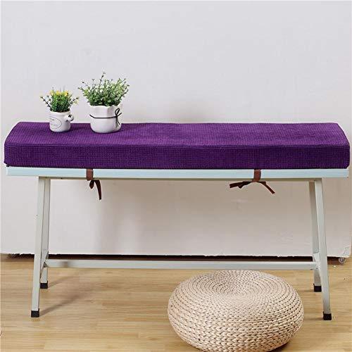 GJBHD Montlake Bench Cushion,Long Chair Cushion Pads Outdoor Loveseat Cushion Long Stool Mats Bench Seat Pad with Tie-b 30x50x7cm