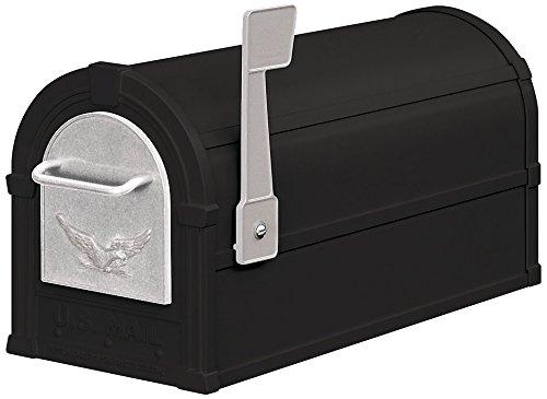 Salsbury Industries 4855E-BLS Eagle Rural Mailbox, Black/Silver