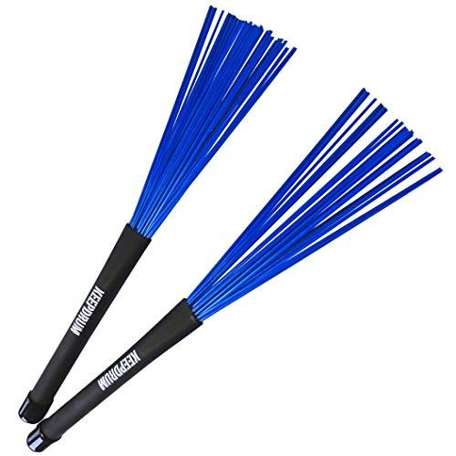 keepdrum SV603BL Nylon Besen Brushes Schlagzeug-Stöcke Blau