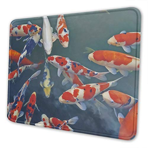 JAWANNAN Koi Fish Mouse Pad,Anti Slip Rubber Mousepads Desktop Notebook Mouse Mat for Working and Gaming.8.3 X 10.3 in