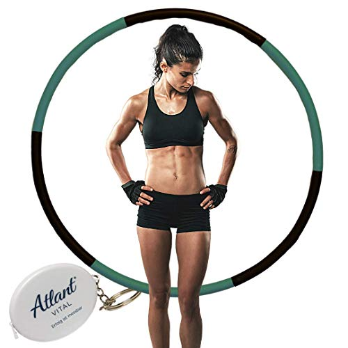 Atlant Vital Hula Hoop Reifen Erwachsene Hullahub zum Abnehmen 1,2kg Sportgeräte für Zuhause Fitness Geräte Hula-Hoop Slim Smart Sport zu Hause Deluxe Hulahupreifen Bauchtraining, Sport Set