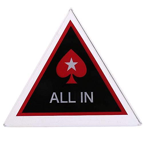 POFET Guard Poker, All In, Dealer Crystal Poker Guard Karten, Pub Club Entertainment Tools für Hold'em Poker