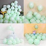 Globos de Cumpleaños,verde Globos Fiesta,verde Globos de Helio,10 Pulgada Macaron Colores Látex Balloons para bodas, fiestas de cumpleaños y decoración(verde)