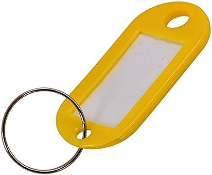 TOOGOO (R) 50 x Llavero de Plastico con Etiquetas para ID Nombre