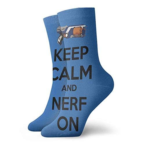 Logon 8 Keep Calm Nerf On - Calcetines largos (30 cm, algodón), diseño deportivo