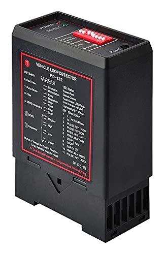 Vehicle Loop Detector, PD132 Enkelkanal Induktiv Fordonsslingdetektor för automatisk dörröppnare Fästdörrar Bilparkering Växellådsdetektor English Version