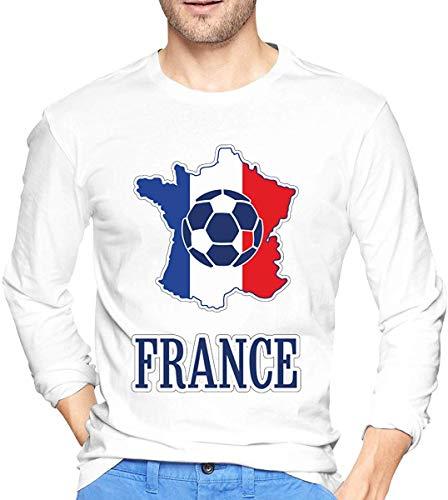 France Soccer Shirt Football Team Jersey Fan Gift Men's Long Sleeve T-Shirts,Long Sleeve T-Shirts for Men's XL