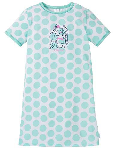 Schiesser Ponyhof Nachhemd 1/2 Camicia da Notte, Verde (Mint 708), 92 (Taglia Produttore: 092) Bambina
