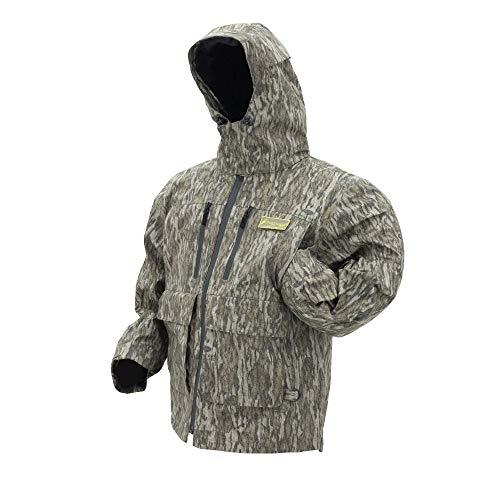 Frogg Toggs Pilot II Camo Waterproof Rain Jacket, Compatible w/ Frogg Toggs Co-Pilot Puff Jacket & Vest Liners, Large, Mossy Oaks Bottomlands