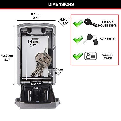 Master Lock 5441EURD Boite à Clés Sécurisée Connectée [Bluetooth] [Fixation murale] - Select Access smart Partagez un Accès à Vos clés à Distance Noir