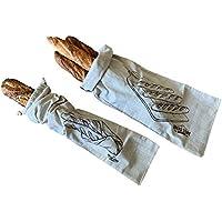 Bolsas de pan de lino, 2 unidades, 8 x 27 pulgadas, ideal para pan casero, sin blanquear, reutilizable, almacenamiento de pan de baguette