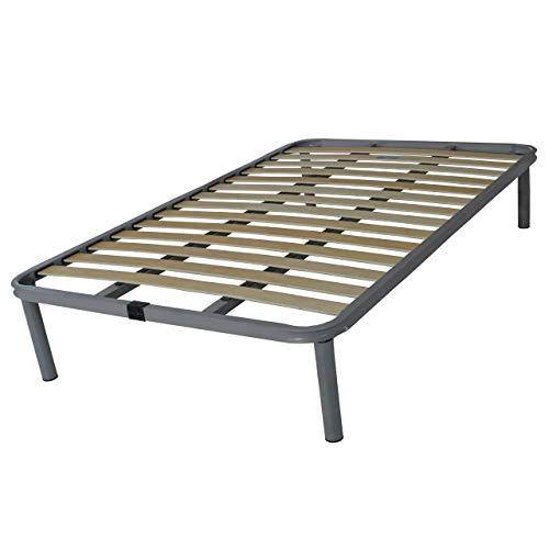 SomnusSana Rete a doghe Una piazza e mezza Per letto o materasso da 120x200 cm Struttura in Ferro con due barre di rinforzo Indistruttibile Altezza 40 cm