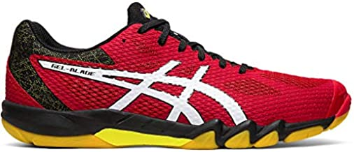 ASICS Men's Gel-Blade 7 Court Shoes, 9M, Speed RED/White