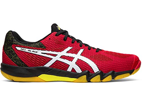 ASICS Gel-Blade 7 Herren Squash- und Badmintonschuhe, Rot (Speed Red/White), 46 EU