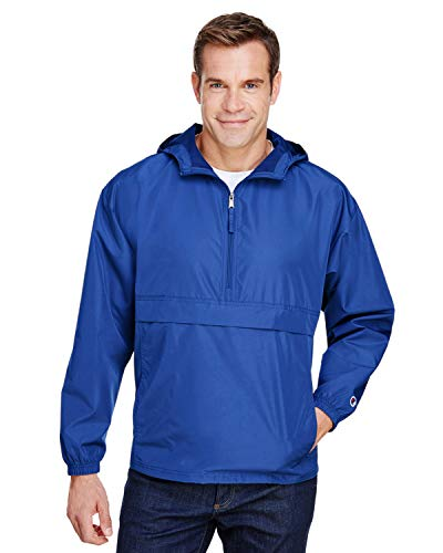 Champion Mens Packable Anorak Jacket, 3XL, Royal Blue