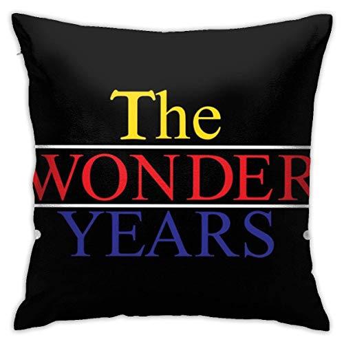 Throw Pillow Covers The Wonder Years Trucker Cap Cojines para Sofá De Dormitorio Cojines para Sofá De Oficina Acogedor 45X45Cm Funda De Cojín para El Hogar Funda De Almohada Decora