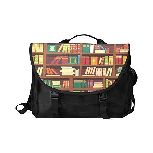 Laptop Reisetasche Buch und Lupe auf dem Tisch Multifunktionale Umhängetasche Fit für 15 Zoll Computer Notebook MacBook