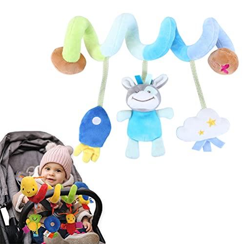 1 unidad con chirriador, sonajero, campana, ideal para actividades de bebé en espiral, cama y cochecito de juguete para colgar para bebés de 0 a 3 años de edad 3+ meses, C