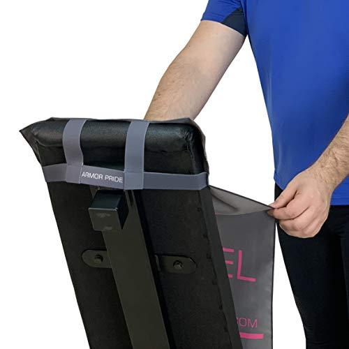 Toalla para Gimnasio con Anticaída de Microfibra - Sujeción a los Bancos y Máquinas de Musculación - 11 Colores - Antideslizante con un Diseño Moderno, Pequeña y de Secado rápido (C.Gris-Gris)