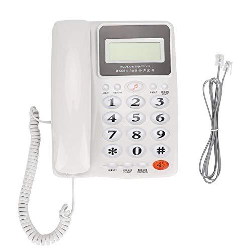 Ymiko Oficina de Negocios Uso en el hogar Teléfono Fijo Teléfono Fijo Teléfono con luz de Fondo(Blanco)