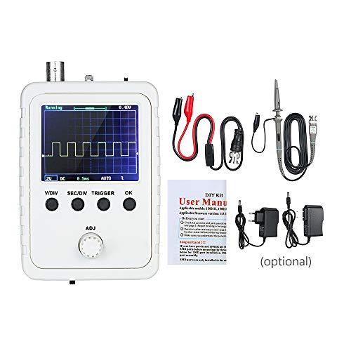 Osciloscopio digital portatil,osciloscopios portatiles kit con clip BNC DS0150,adaptador de corriente,sonda,TFT (máquina terminada ensamblada) para principiante
