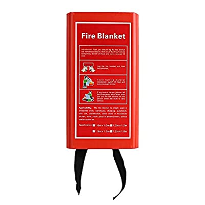 Ideal Fire Blanket, 11m 1pc Glass Fiber Retardant Stove Floor with Flame Retardant Glass Fiber for Kitchen Fireplace by Tgoon