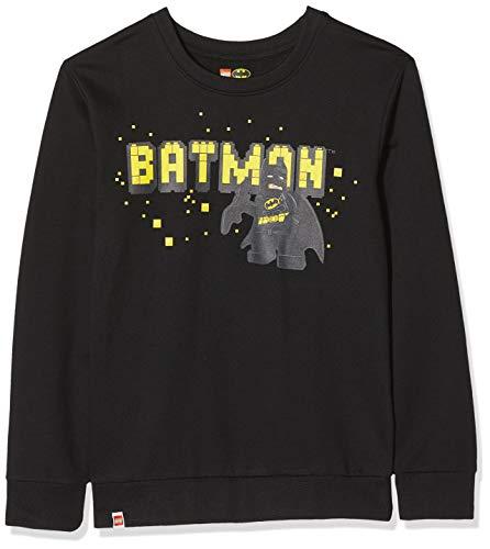 LEGO Jungen cm Batman Sweatshirt, Schwarz (Black 995), (Herstellergröße: 122)