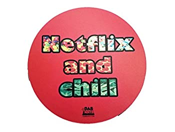 8  Netflix and Chill Fabric Topped Dab Pad/Mat  Red
