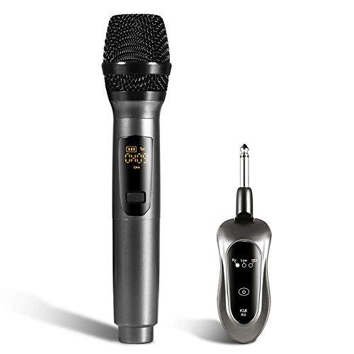 Farmer-W draadloze microfoon K18, USB-oplaadkabel, duurzame handmicrofoon, energiebesparend voor persoonlijk entertainment, familie, vergaderlessen
