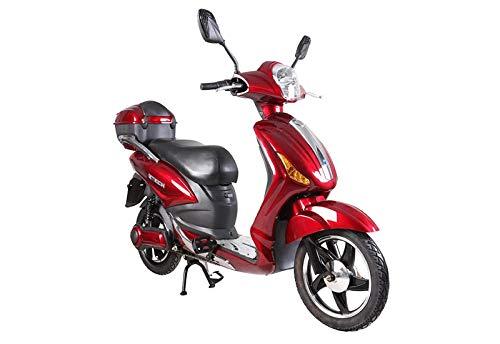 Tecnobike Shop Scooter Bicicletta Elettrica a Pedalata Assistita Z-Tech ZT-09-C 500w 48V - 20Ah Batteria al Piombo (Rosso)