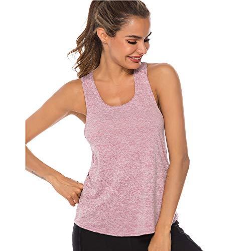 Tank Top Donna Canotta Sportiva, Sport delle Donne Vest Yoga Wear Maniche Donne Vest Yoga Formazione e Palestra Canotta (Red, L)