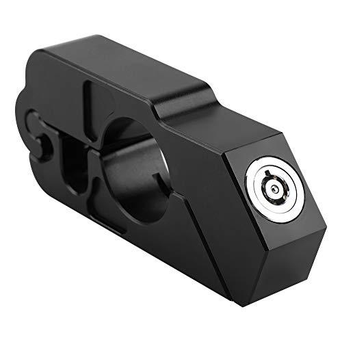 Motorrad Bremsschloss, Lenker Sicherheitsschloss Universal CNC Aluminiumlegierung Motorrad Lenker Bremshebel Schloss Fahrzeugsicherheit (Black)