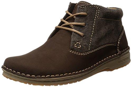 Birkenstock Handnaht-Boots ''Memphis High'' aus Leder/Textil in Dunkelbraun 46.0 EU S
