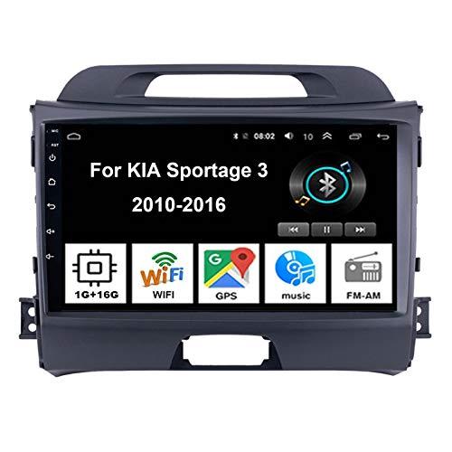 Android Autoradio Car Stereo Radio De Coche Pantalla Tactil Coche GPS Navegación para KIA Sportage 3 2010-2016 Conecta Y Reproduce Cámara De Respaldo Estéreo De Coche Audio