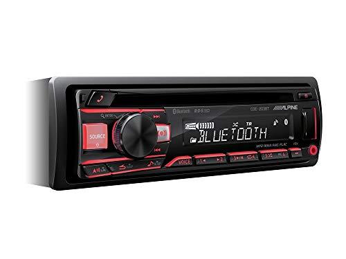 Alpine CDE203 USB CD autoradio Bluetooth incl inbouwset voor Renault Twingo II (N) 2007-2014 grijs met Quadlock