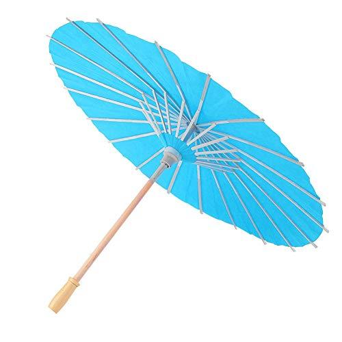 Papier Paraplu Decor Props voor Kinderen DIY Hand Schilderen Kinderen DIY Blank Papier Paraplu Graffiti Handgeschilderde Ambachtelijke Paraplu (diameter 60cm)