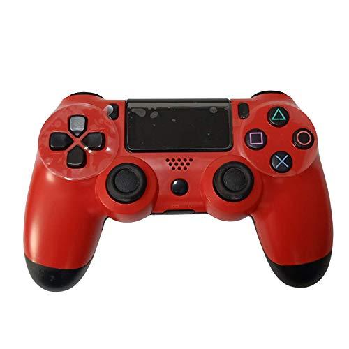 EtexFan Mandos PS4 Inalambricos, Controlador de Juegos PS4 Inalámbrico Bluetooth Gamepad de Doble Vibración 6-Axis para Playstation 4/PS3/PC - Rojo Oscuro