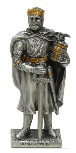 Peltro King Arthur metallo cavaliere con dettagli dorati