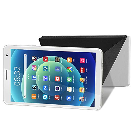 Tablet 8-inch, Android 10.0 Compact Reading Tablet PC, 800×1280 IPS HD Display with 3GB RAM 32GB ROM Storage/128GB Expansion, Dual Camera, WiFi, Bluetooth, Google GMS Certification