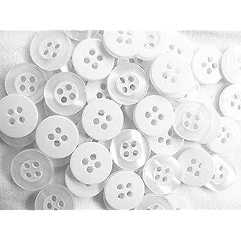 100 botones blancos variados de 11 mm para camisa, 2 tonos: Amazon.es: Salud y cuidado personal