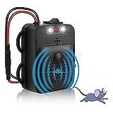 Jooheli Repelente de Ratas Ultrasonico Coche, Ultrasonido, 12V 3 en 1 Ultrasonido y Luz Intermitente Ahuyentador de Roedores para el Coche Frecuencia de Cambio Ultrasónico y Función