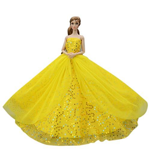 WOWOWO Romantisches High Fashion Brautkleid für 1/6 Doll Princess Abendkleider Kleid