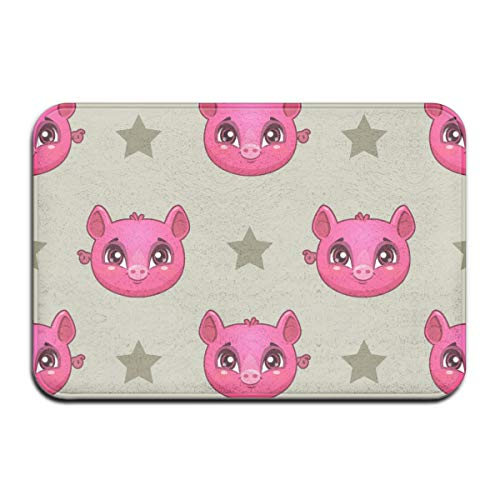 NA patroon met Funny Pig Faces Rug Deur Mat Entrance Rug Floor Mats voor voorkant Outside deuren United Carpet 50 x 80 x 1,3 cm