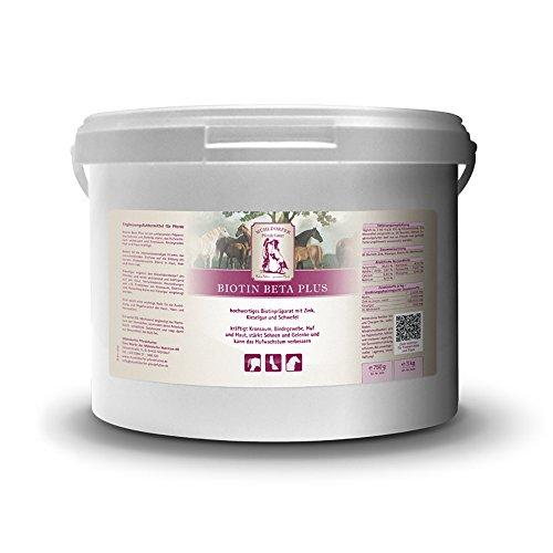 Mühldorfer Biotin Beta Plus, 3 kg, ondersteunt hoef en huid, versterkt de kroonzoom, verbetert de hoefgroei, aanvullende voeding voor paarden en pony's