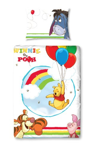 Character World Parure de lit Winnie l'ourson pour lit Junior