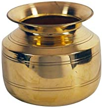 Style OK Brass Hundi Lota Pot Kalash Vessel for Festival Pooja Havan Home Temple